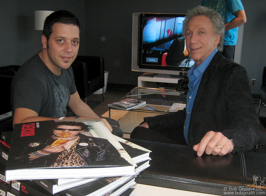 Sept 16 - Toronto - Bob Gruen tapes a segment of 'The Hour' with Canada's most popular TV personality George Stroumboulopoulos.