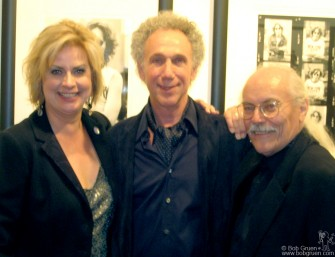 September 17 - Irene Carroll and Richard Flowhil kept Bob Gruen woking with non-stop interviews generating fantastic publicity making Bob's show at the Liss Gallery in Toronto a smashing success!