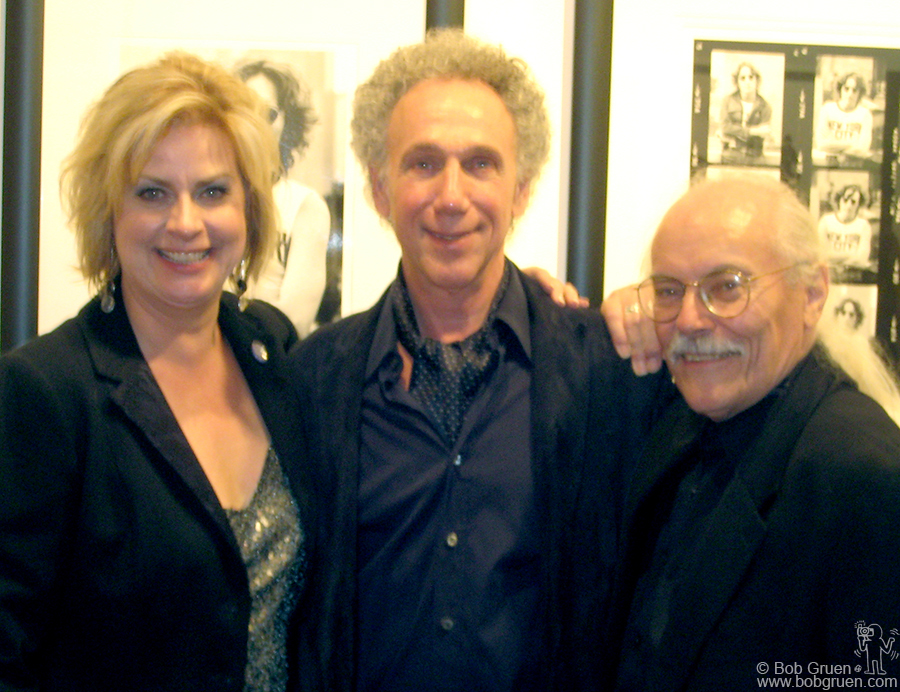 Sept 17 - Toronto - Irene Carroll and Richard Flowhil kept Bob Gruen woking with non-stop interviews generating fantastic publicity making Bob's show at the Liss Gallery in Toronto a smashing success!