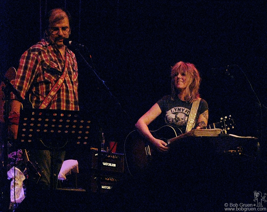 Oct 2 - NYC - First week of October, Lucinda Williams played a series of shows in New York. At Town Hall Steve Earl joined in for a few songs.