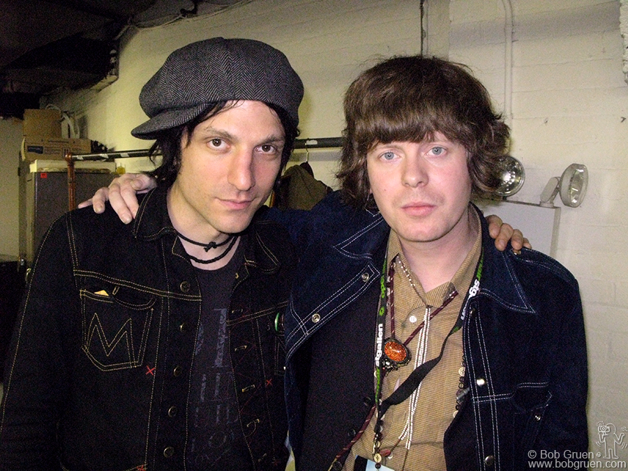 New Yorker Jesse Malin and Fionn Regan from Ireland each played a song with Lucinda at Town Hall and posed for a photo backstage after the show.