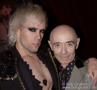 BP Fallon was at the party with Semi Precious Weapons' singer Justin Tranter.