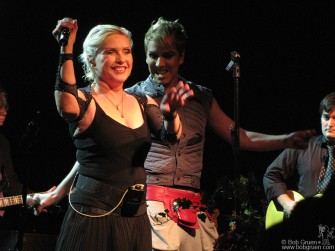 Nov 8 - When the awards dinner was over, I rushed back to the city to see Deborah Harry perform with a new band to promote her new solo CD - Necessary Evil. I got there in time to see Miss Guy join her onstage.