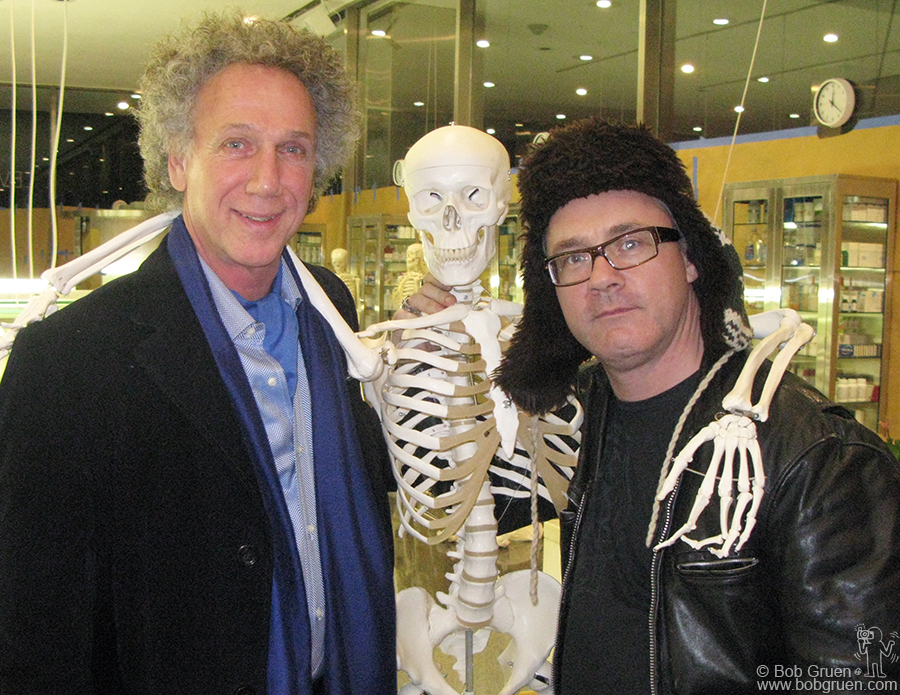 """Nov 10 - NYC - British artist Damien Hirst opened an exhibition on Park Avenue. I stopped by to say hi while he was setting up his """"School: The Archaeology of Lost Desires, Comprehending Infinity,and The Search For Knowledge""""."""