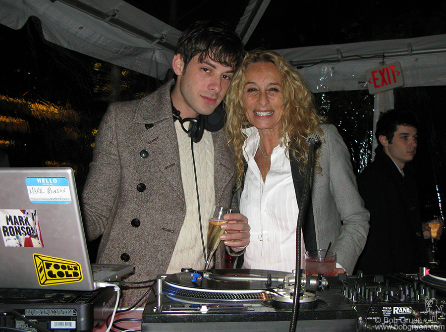 Mark Ronson, Grammy nominated producer of Amy Winehouse and Lily Allen, was the DJ at Damien's party, and his mom Ann Dexter Jones was there as a happy guest. It was a fun party at the Lever House.