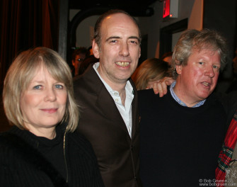 The Talking Heads Tina Weymouth and Chris Frantz get together with Mick after his show.