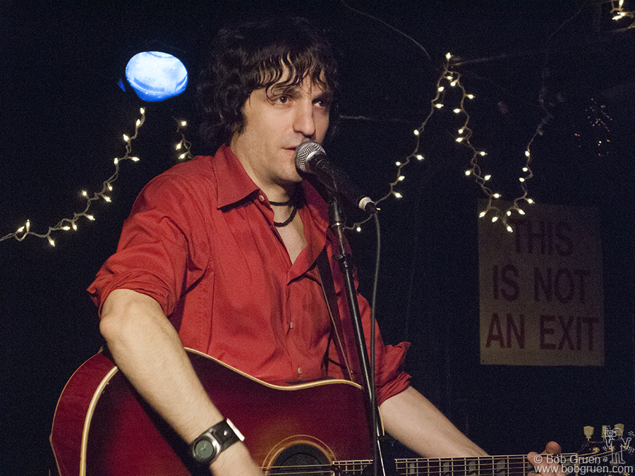 Dec 18 - NYC - Jesse Malin was at the Mercury Lounge for two nights to record a live album. He did a long set with lots of storytelling in between the songs.