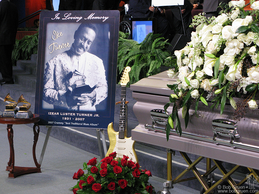 Dec 21 - Los Angeles - Ike Turner, who passed away on Dec 13th, was a very big help to me when I started my career. At his funeral in Los Angeles he was remembered as a founding father of Rock and Roll.