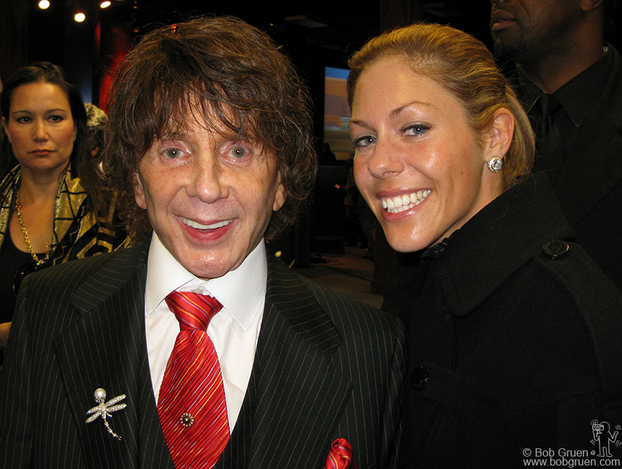 Phil Spector (above with his wife Rachelle) spoke about what a great musician Ike was . Phil said he quit the music business when Ike & Tina were not accepted as the really big act he believed them to be.