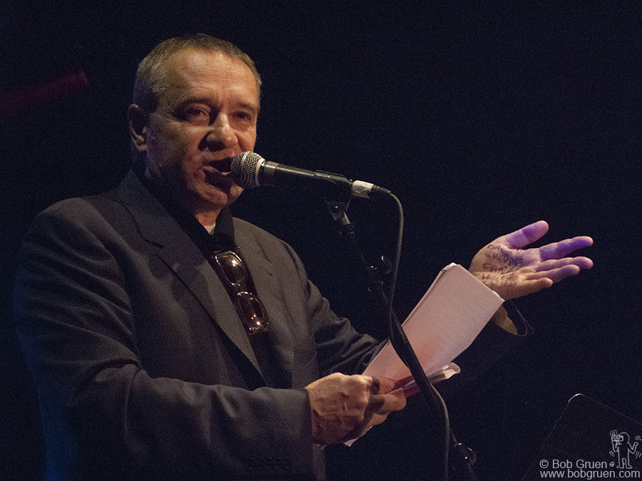 Dec 22 - Los Angeles - The next day there was a benefit tribute at the Key Club in Los Angeles for Joe Strummer on the 5th anniversary of his passing. Chris Salewicz, who wrote a biography of Joe, read from his book during the evening.