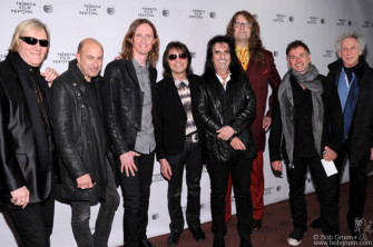 April 17 - NYC - 'Super Duper Alice Cooper' film premiere at the Bow Tie Chelsea Cinemas. Alice and the film's producers asked John Varvatos to join them in a picture an the opening.