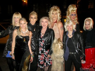 April 25 - The blondes all came out to see the opening of the documentary film about the Squeezebox parties, including Miss Guy, Debbie Harry and Mistress Formika.