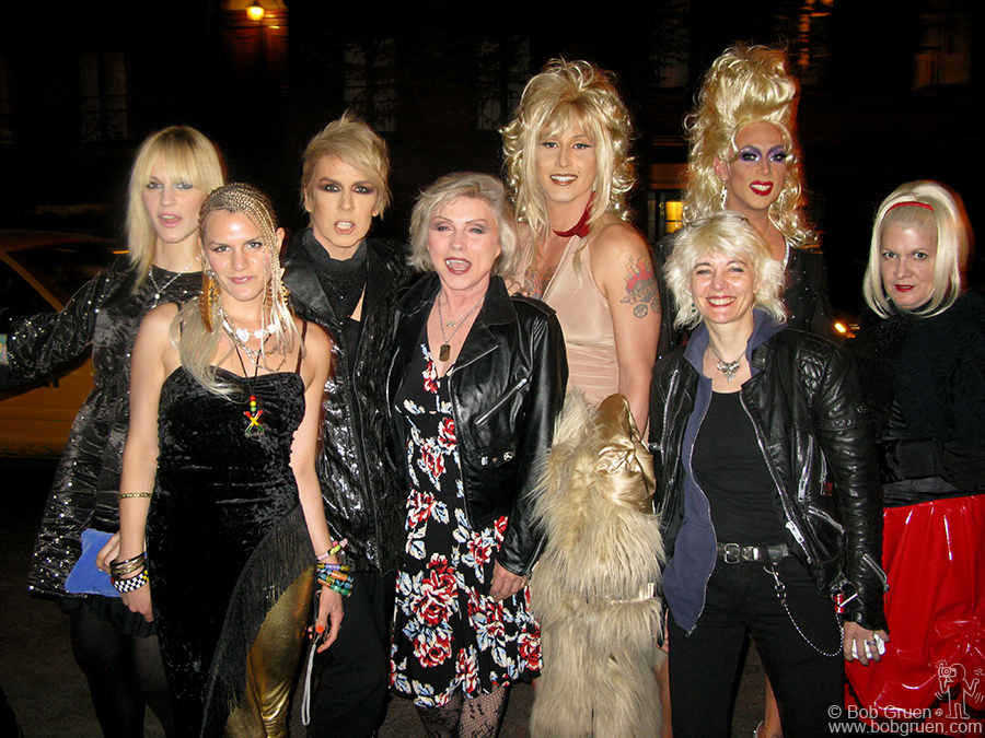 April 25 - NYC - The blondes all came out to see the opening of the documentary film about the Squeezebox parties, including Miss Guy, Debbie Harry and Mistress Formika.