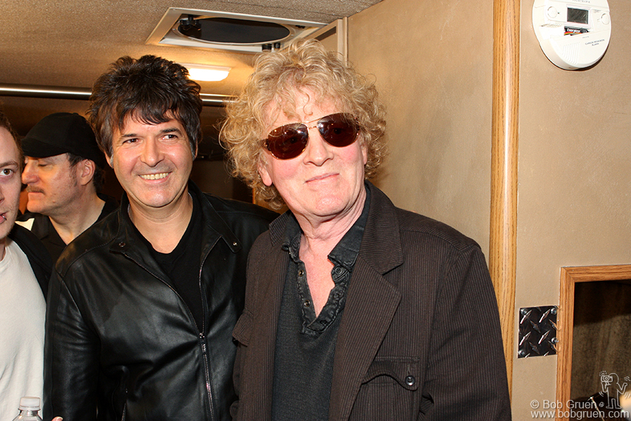 Clem Burke & Ian Hunter got to chat backstage at the John Varvatos store opening party.
