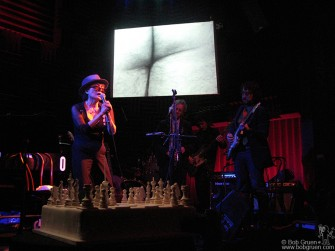Feb 18 - Yoko Ono celebrated her 75th birthday with a party at Joe's pub; her son Sean got a band together to play some songs with her.