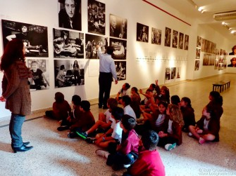 July 7 - Corrientes - Children learned about John & Yoko at my 'John Lennon: The New York Years' exhibit at El Instituto de Cultura de la Provincia de Corrientes in Argentina.