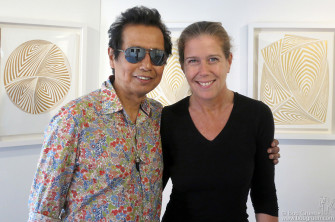 June 3 - NYC - Alejandro Escovedo came to see my wife Elizabeth Gregory-Gruen at her exhibition at the Ivy Brown Gallery.