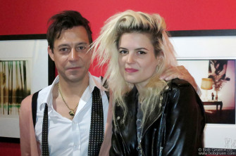 June 10 - NYC - Kills members Jamie Hince and Allison Mosshart at Jamie's photo exhibit opening at Morrison Hotel Gallery.