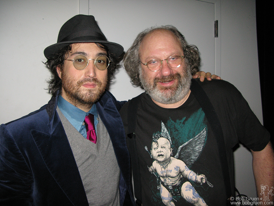 Jan 5 - NYC - Sean Lennon & Hal Wilner put on a very avant garde show at the Stone, a small performance space on the Lower East Side.
