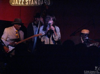 Jan 6 - Famed bluesman Hubert Sumlin played at the Jazz Standard club with a great band including Tony Garnier, David Johansen and James Blood Ulmer, above.