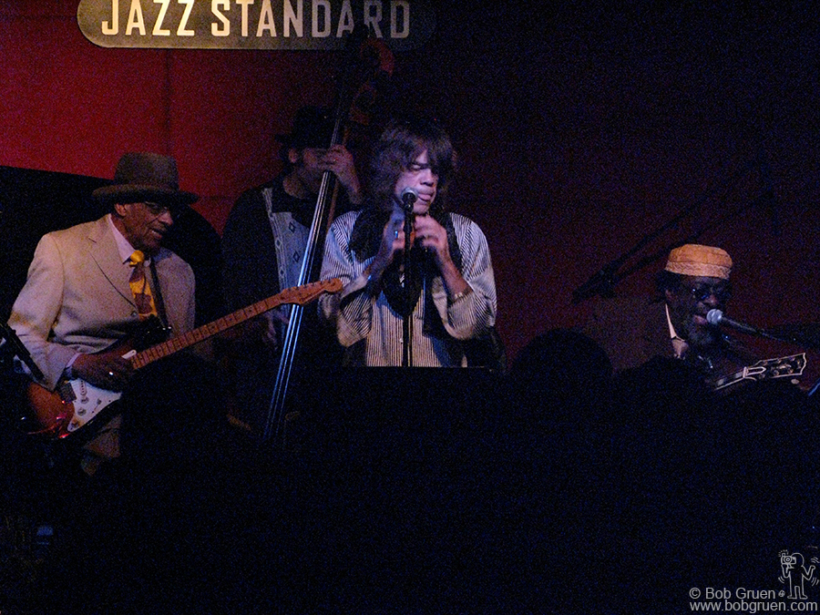 Jan 6 - NYC - Famed bluesman Hubert Sumlin played at the Jazz Standard club with a great band including Tony Garnier, David Johansen and James Blood Ulmer, above.