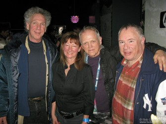 Jan 21 - I ran into old friends at the Sundance film fest, photog Ray Ann Rubinstein, Jim Fourrat and Famous Toby Mamis. I go there to ski with Toby, because no one is on the world class slopes - they are all watching films!