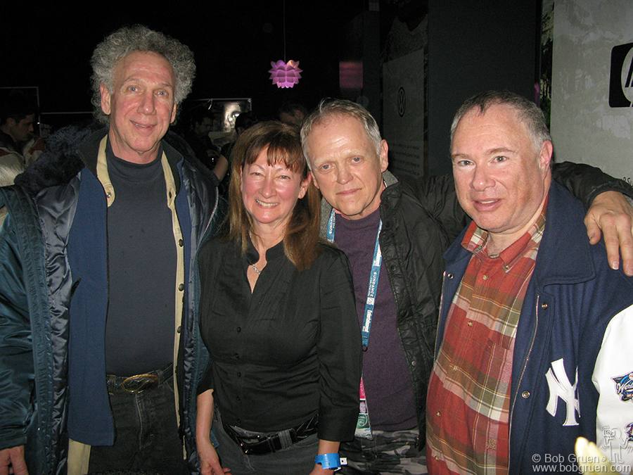 Jan 21 - Park City, UT - I ran into old friends at the Sundance film fest, photog Ray Ann Rubinstein, Jim Fourrat and Famous Toby Mamis. I go there to ski with Toby, because no one is on the world class slopes - they are all watching films!