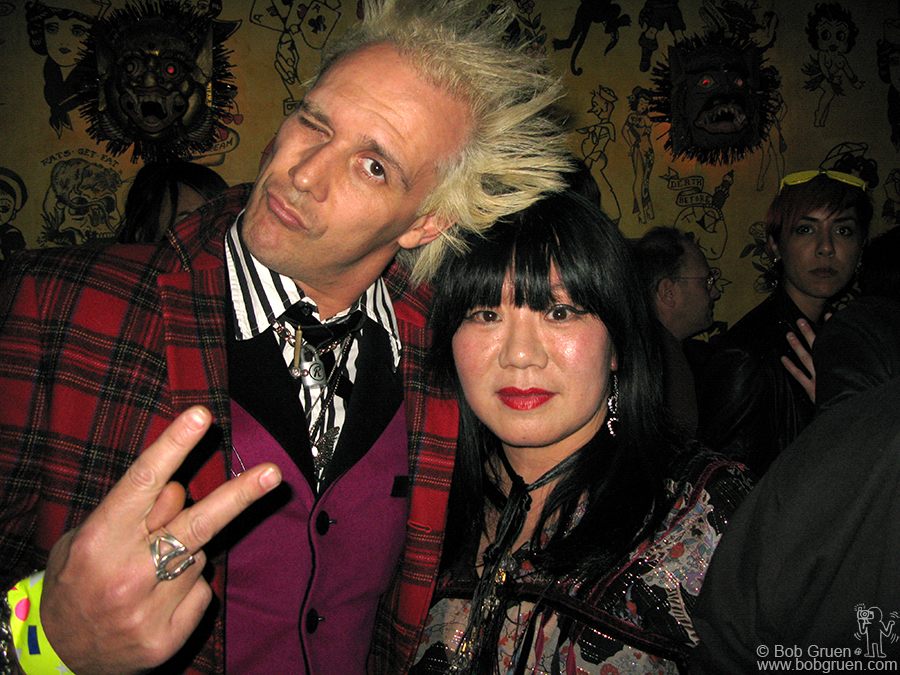 Feb 6 - NYC - Supla & Anna Sui at Don Hill's club, where Anna had her party.