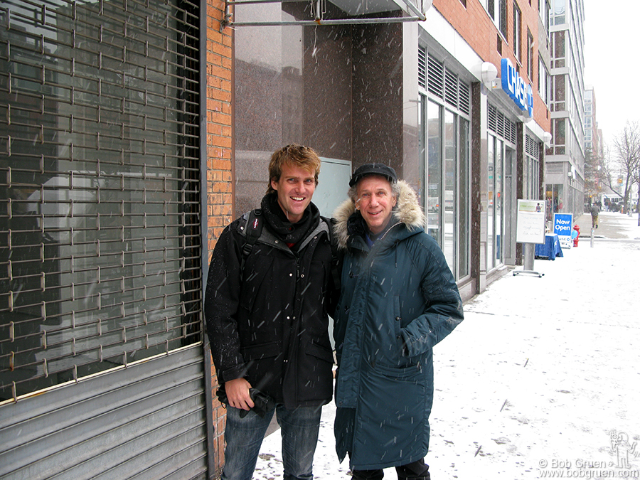 Feb 12 - NYC - Tito Ficarelli came from Brazil to design my exhibition to open on the Bowery at the old CBGB gallery space.