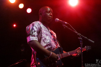 August 12 - NYC - Vieux Farka Toure brought his lively African sound to the Highline Ballroom.