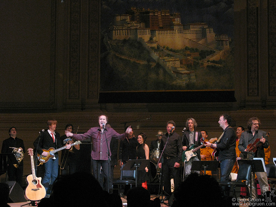 Feb 13 - NYC - Ray Davies was the rousing closing act at the Carnegie Hall benefit for Tibet House.