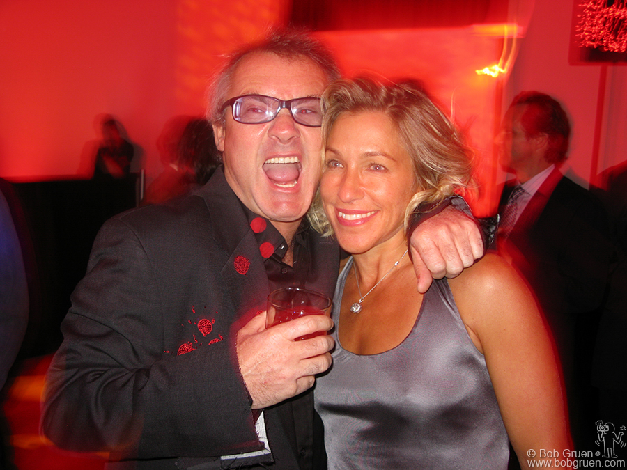 Damien Hirst and his soul mate Mia at the auction party. A happy Valentines day!