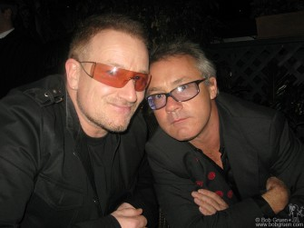 Bono & Damien Hirst at the party after the auction.