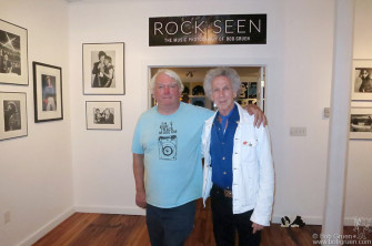 August 29 - Roxbury, NY- Gallery owner Phil Lenihan with me at the opening of my 'Rock Seen' exhibit at the Orphic Gallery.