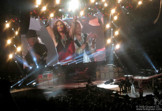 September 3 - Newark, NJ - Aerosmith on stage at the Prudential Center rocking and rolling with incredible energy!