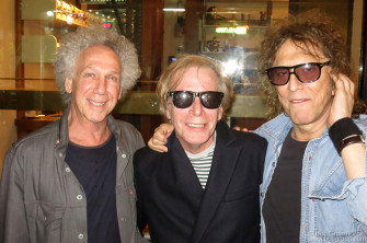 September 9 - NYC - I met with Legs McNeil and Mick Rock at the Ace Hotel to plan for our talk on Sept 30, which was a huge success!