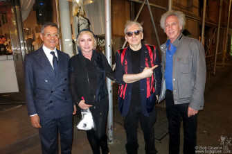 September 22 - NYC - Jeffrey Deitch, Debbie Harry and Chris Stein and me during the opening of the Blondie 40th Anniversary exhibit at the Chelsea Hotel Gallery. The show, curated by Jeffrey, includes photos by Chris and myself, David Godlis, Roberta Bayley, Bobby Grossman, Mick Rock, Annie Liebowitz and Robert Mapplethorpe.
