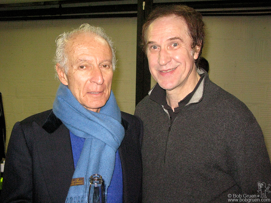 April 8 - NYC - Ron Delsener & Ray Davies after Ray's show at the Beacon Theater.