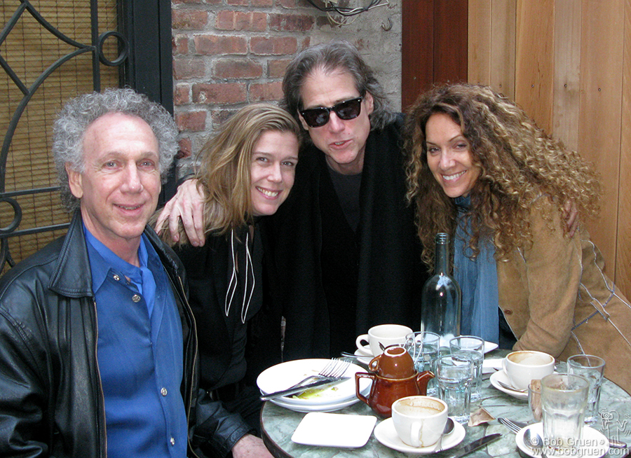 April 26 - NYC - My friend Richard Lewis and his wife Joyce came to see my Rockers exhibition and we had a lunch together.