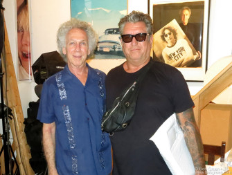 August 12 - NYC - Steve Jones of the Sex Pistols stopped by to visit me at my Westbeth Studio.