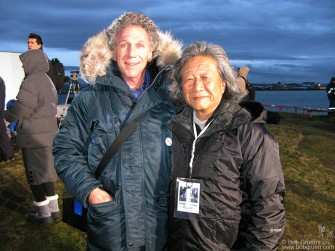 I posed for a photo with my friend Tetsu Hamada, who is the Technical Director of the Peace Tower project.