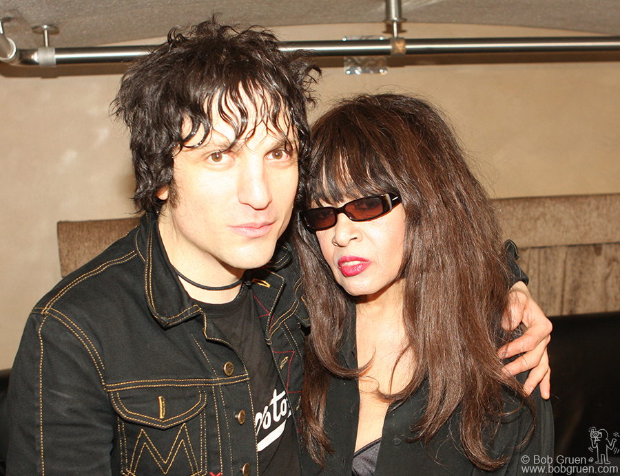 Jesse Malin & Ronnie Spector backstage at the John Varvatos store opening party.
