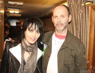 Joan Jett & Wayne Kramer backstage at the John Varvatos store opening party.