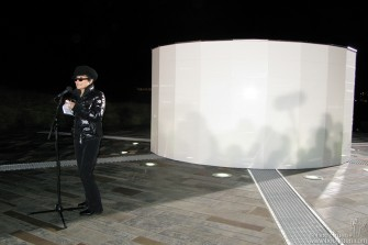 "Yoko gave a short speech to thank the people of Iceland and to say ""Happy Birthday"" to John Lennon, who had asked her to build the 'house of light' described in one of her writings 40 years ago."