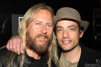 Jerry Cantrell & Jakob Dylan were at the John Varvatos store opening party.