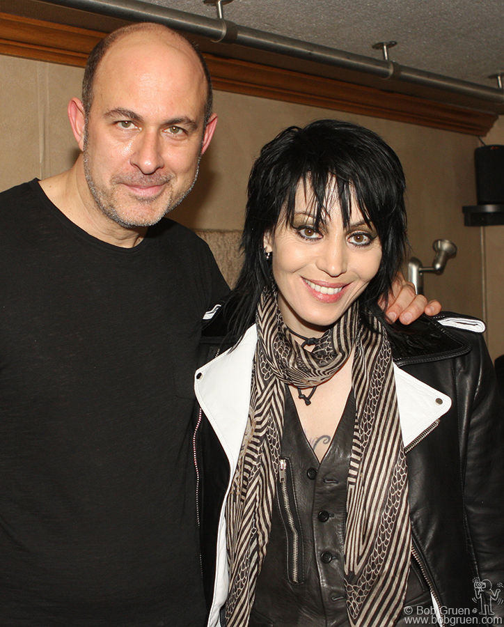 John Varvatos & Joan Jett who was at her most exciting best on the stage!