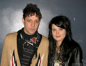 May 9 - I went to Chicago to give a talk at the Gravity Free Convention of Designers and found out that the Kills were there too, playing at the Metro. I talked to Jamie and Alison and took this photo backstage before their show.