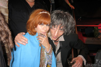 May 19 - NYC - Johnny Ramone's widow Linda Ramone & Joey Ramone's brother Mickey Leigh at the Joey Ramone Birthday Bash at Bowery Electric.