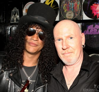 Slash & Cheetah Chrome backstage at the John Varvatos store opening party.