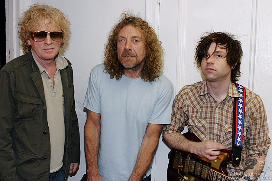 June 23 - NYC - Backstage before the show - Ian Hunter, Robert Plant and Ryan Adams